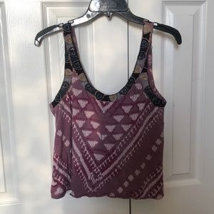 Free People Crop Tank With Buttons